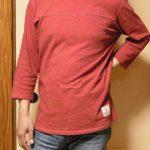 メンズビンテージ加工七分袖Tシャツ