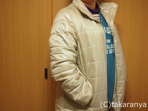 大きいサイズの遠赤発熱中わたジャケット