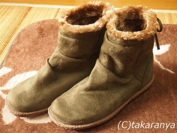 しまむらのグリーンのブーツ