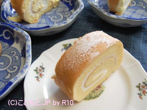 090315大山乳業の白バラロールケーキ