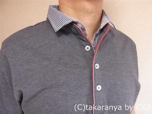 kkaでトリコロールデザインのポロシャツ