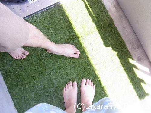 ベルメゾンの人工芝マット