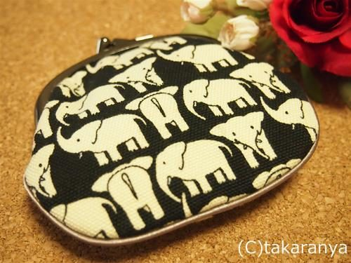 京都べるれがあろの北欧チックなゾウのがま口財布