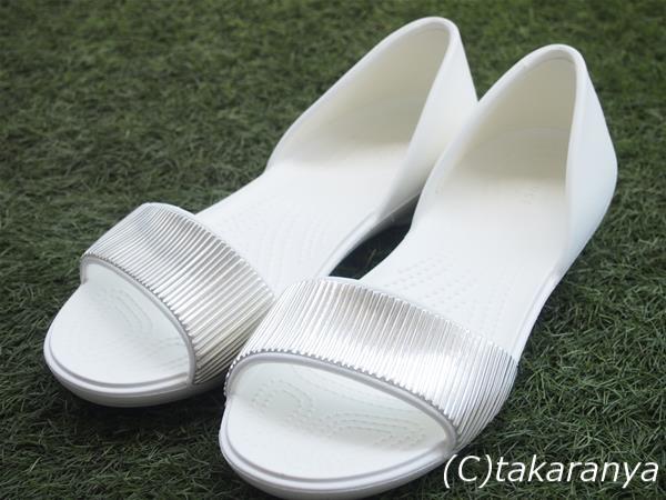 クロックスクロックス リナ エンベリッシュド ドルセー ウィメン(Women's Crocs Lina Embellished D'Orsay Flat)