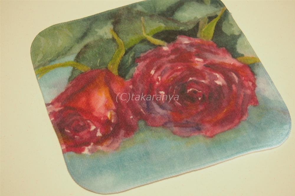 情熱の赤い薔薇:タオルハンカチ