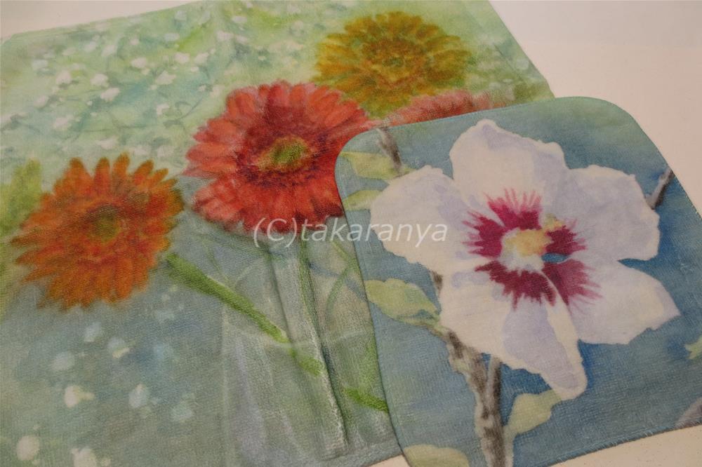 お花のハンドタオル