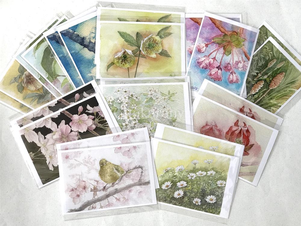 あかり花鳥風月春のお花のポストカードセット