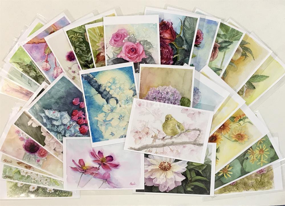 あかり花鳥風月お花のポストカードたっぷりセット