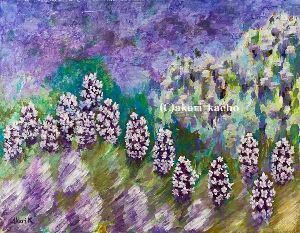 あかり花鳥風月画「Sounds of Lavender field」