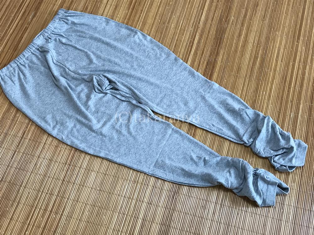 セシール裾クシュクシュパンツグレー